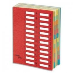 EMEY Trieur EMEY JUNIOR en carte, 24 compartiments. Coloris rouge.