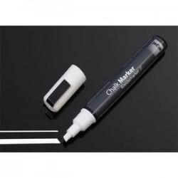 SIGEL Marqueur craie liquide50, pointe biseautée, blanc, effaçable pour toutes sortes de surfaces vitrées