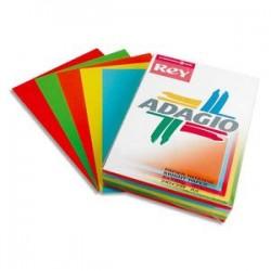 PAPYRUS Ramette 50 feuilles x 5 teintes papier couleur intense ADAGIO assortis intenses A3 80g
