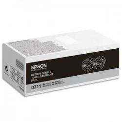 EPS PACK 2 TONER NOIRS C13S050711