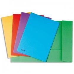 EXACOMPTA Paquet de 100 chemises BAHIA en carte 220 grammes coloris blanc