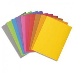 EXACOMPTA Paquet de 100 chemises BAHIA en carte 220 grammes coloris assortis