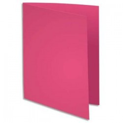 EXACOMPTA Paquet de 100 chemises BAHIA en carte 220 grammes coloris fushia