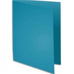 EXACOMPTA Paquet de 100 chemises BAHIA en carte 220 grammes coloris turquoise