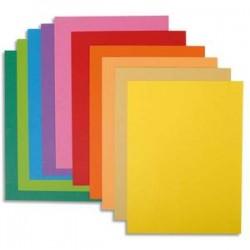 EXACOMPTA Paquet de 10 chemises BAHIA en carte 220 grammes assortis