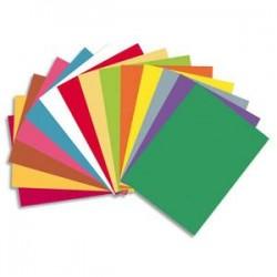 EXACOMPTA Paquet de 50 chemises BAHIA en carte 220 grammes assortis