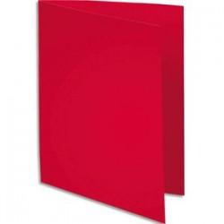 EXACOMPTA Paquet de 100 sous-chemises BAHIA en carte 80 grammes rouge