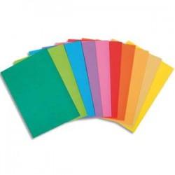 EXACOMPTA Paquet de 100 sous-chemises BAHIA en carte 80 grammes assortis