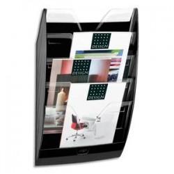 CEP Présentoir mural 5 compartiments 154, kit de fixation fourni - Dim. L35 x H58 x P12,2 cm noir cristal