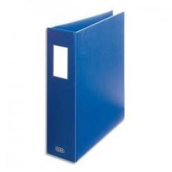 ELBA Classeur à arceaux capacité 6,5 cm en PVC bleu