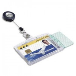 DURABLE B/10 Portes-badge avec enrouleur pour 2 cartes de sécurité