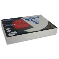 CLAIREFONTAINE Ramette 250 feuilles A3 200g DCP coated brillant 2 faces 6862