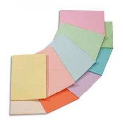 CLAIREFONTAINE Ramette 5x100F papier couleur Trophée 80g A4 assortis pastel rose,canari,vert,bleu,saumon