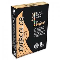CLAIREFONTAINE Ramette de 500 feuilles papier couleur recyclé EVERCOLOR 80gr format A4 jaune canari 40005