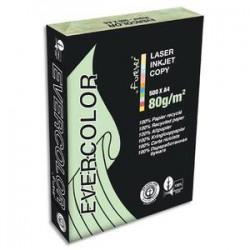 CLAIREFONTAINE Ramette de 500 feuilles papier couleur recyclé EVERCOLOR 80gr format A4 vert clair 40004