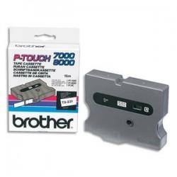 BROTHER Cassette Ruban TX noir/blanc 12mmx15m TX231pour P-TOUCH 7000/8000/PC