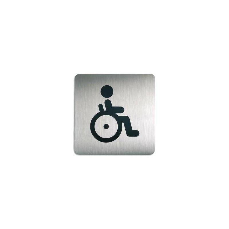 DURABLE Plaques de signalisation Toilettes Handicapés argent métallisé 15x15 cm