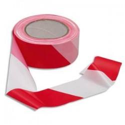 VISO Ruban non adhésif rouge et blanc 100m x 5cm