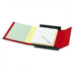 ARIANEX Chemise Innovation , dos 8 cm, trieur 9 onglets, recouverte de PVC rouge, coins métal