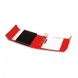 ARIANEX Classeur à 4 anneaux en D dos de 8 cm avec fermeture à pression Innovation en balacron rouge