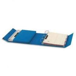 ARIANEX Classeur à 4 anneaux en D dos de 8 cm avec fermeture à pression Innovation en balacron bleu
