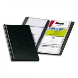 DURABLE Porte-cartes de visite Visifix noir capacité 96 cartes aspect grain de cuir L11,5 x H25,3 cm