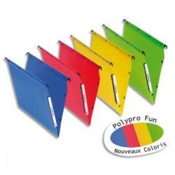 OBLIQUE AZ Paquet de 10 dossiers suspendus ARMOIRE en polypro opaque. Fond 30, bouton-pression. Assortis