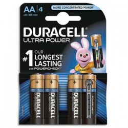 DURACELL Blister de 4 piles Alcalines 1,5V AA LR06 Ultra Power Duralock