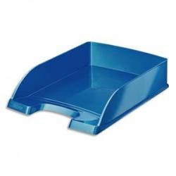 LEITZ Corbeille à courrier Leitz Plus - WOW bleu métallisé - L35,7 x H7 x P25,5 cm