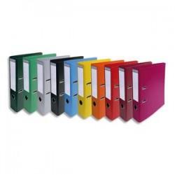 EXACOMPTA Classeur à levier PVC dos de 70mm assortis vif