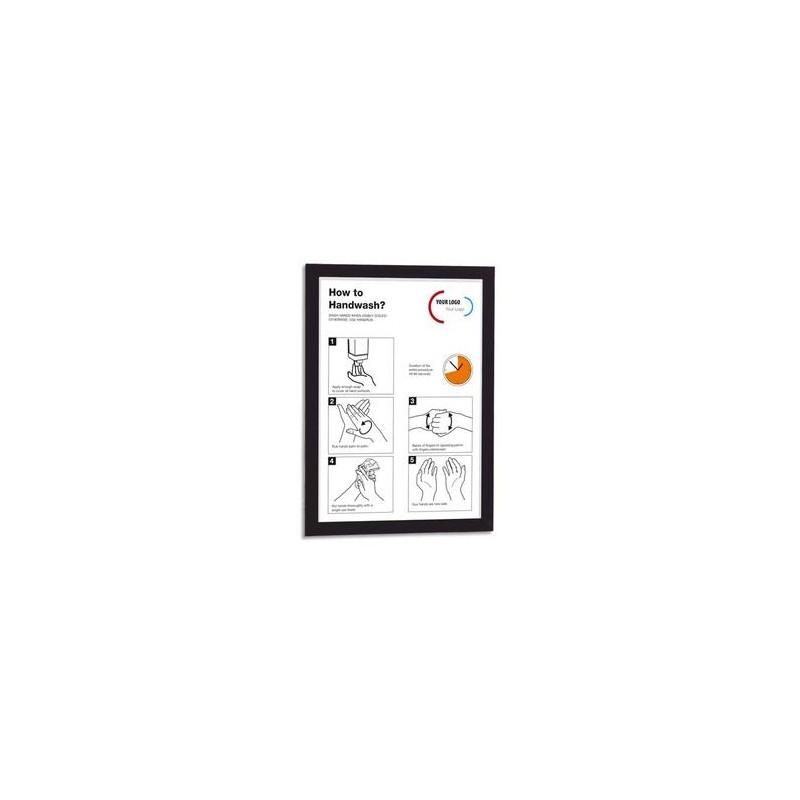 DURABLE Sachet de 2 cadres d'affichage magnétiques Duraframe, format A4, coloris noir