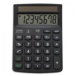 CITIZEN Calculatrice de bureau 8 chiffres ECC 210 ECO noire certifiée Blue Angel