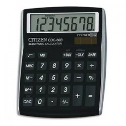 CITIZEN Calculatrice de bureau CDC80 Noire CDC80BKWB