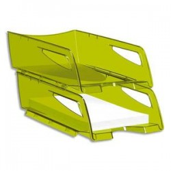 CEP Corbeille à courrier maxi Happy vert bambou 25x10,1x34 cm