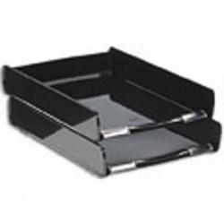 CEP PRO Corbeille courrier Happy noir 25,5x3,6x37 cm