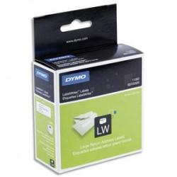 DYMO Rouleau de 500 étiquettes adresse adhésif permanent 25x54mm S0722520