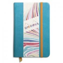 RHODIA Carnet RHODIArama 9x14cm 192 pages unies. Couverture rembordée turquoise