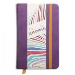 RHODIA Carnet RHODIArama 9x14cm 192 pages unies. Couverture rembordée violet