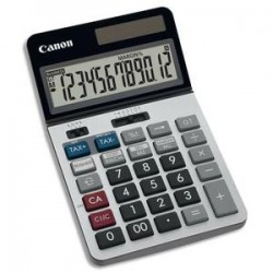 CANON Calculatrice de bureau professionnelle 12 chiffres, tax+/tax-, écran inclinable KS-1220TSG