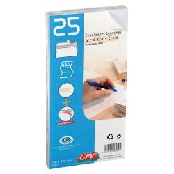 GPV Paquet de 25 enveloppes auto-adhésives 90 grammes Cod Express format 110x220 mm