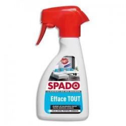 SPADO Spray 250 ml Efface tout colle, encre, peinture et camboui pour toutes surfaces lavables