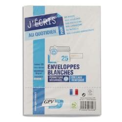 GPV Paquet de 25 enveloppes auto-adhésives 90 grammes Cod Express format 114x162 mm