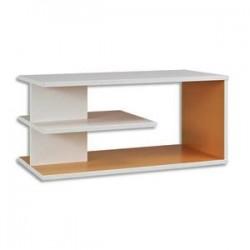 GAUTIER Top surmeuble Sunday - Dimensions : L80 x H37 x P42 cm coloris Blanc Mandarine