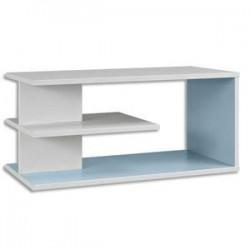 GAUTIER Top surmeuble Sunday - Dimensions : L80 x H37 x P42 cm coloris Blanc Bleu Azur