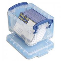 RUB Boîte de rangement de 0,3 Litre + couvercle - Dimensions : L12 x H6,5 x P8,5 cm coloris transparent