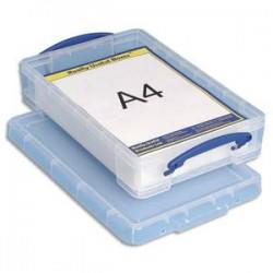 RUB Boîte de rangement + couvercle 4 Litres - Dimensions : L39,5 x H8,8 x P25,5 cm coloris transparent
