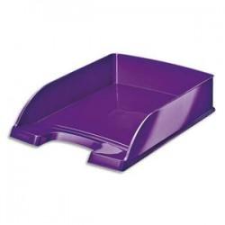 LEITZ Corbeille à courrier Wow violette - Dimensions : L25,5 x H7 x P35,7 cm