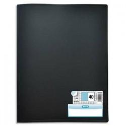 ELBA Protège documents MEMPHIS en polypropylène. 40 pochettes fixes A4 en PP 6/100. Coloris noir