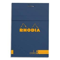 """RHODIA Bloc """"coloR"""" agrafé en-tête 8,5x12 (n°12) 140 pages lignées. Couverture rembordée saphir"""