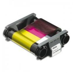 EVOLIS Badgy Ruban couleur YMCKO pour 100 impressions + 100 cartes PVC épaisses (0,76mm) CBGP0001C